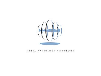 Tulsa Radiology Associates vector logo radiology man icon mri