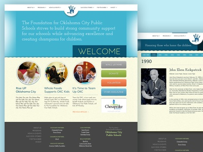 OKCkids website kids playful web design typography type ui