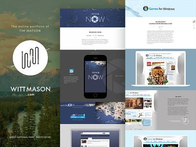 Wittmason.com web design ux ui portfolio