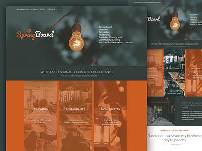 SpringBoard website marketing agency consultants website design color ui