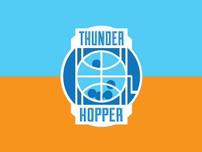 Thunder Hopper okc thunder logo basketball hopper