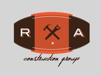 RA logo gritty type