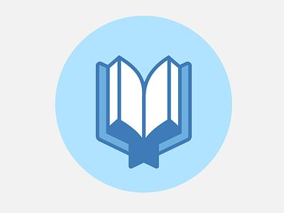 Bible icon blue book bible