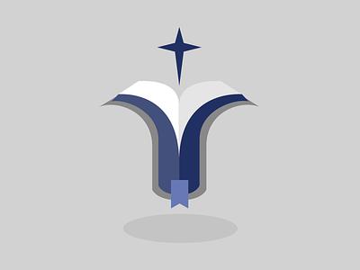 Bible Star logo cross star bible