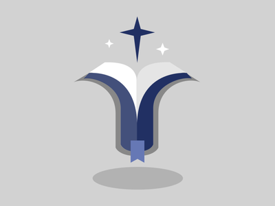 Bible star 2 cross star bible logo