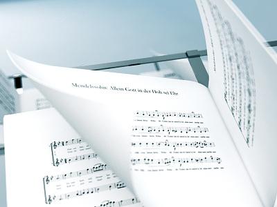 Music sheet music sheet c4d 3d cinema 4d vray dof blur paper