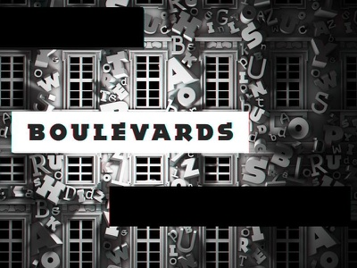 Boulevards black and white 3d cinema4d c4d projection mapping letters boulevards