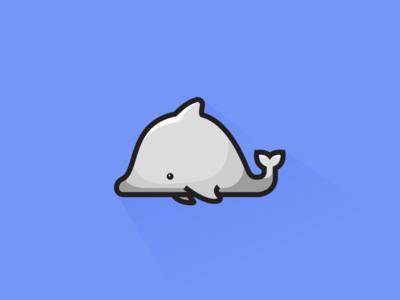 Dolphin cute gray illustration ocean sea animal dolphin