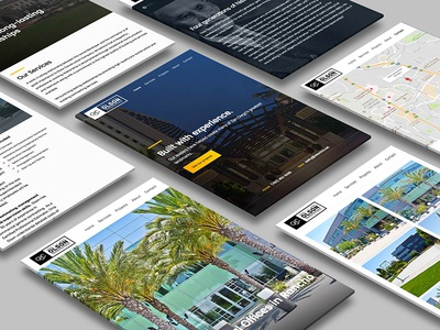 Case study for Olson Construction Company san diego multi screen case study map construction interface app header mobile
