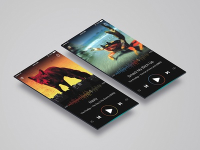 Music player concept screen