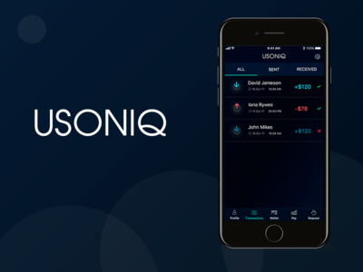 USONIQ - Money transactions App