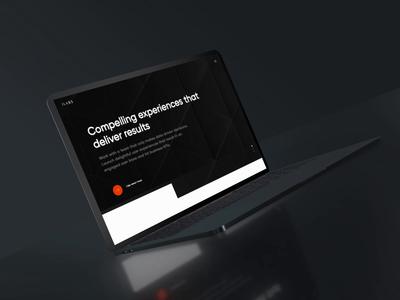 Interactive Labs New Website agency landing page agency website agency website layout design ui