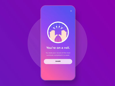 Badges Design - Fiton Fitness App achievement achieve mobile visual app exercise cardio fitness motion ux ui uxui ui animation product design product branding