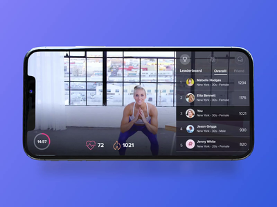 FitOn App - Leaderboard wfh cardio tracking rank workout products all mobile app mobile leaderboard fitness product design brand product visual concept design ui