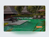 Carina Resort - Marketing Site product website spa resort hotel booking hotel uxui layout visual concept design ui