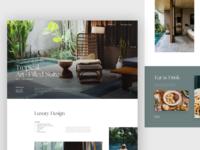 The Slow Hotel Web Design typography uxui elegant luxury hotel branding web marketing product marketing booking resort hotel layout visual concept design ui
