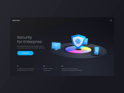 Secure Website ux uxui product design 3d layout visual concept design ui