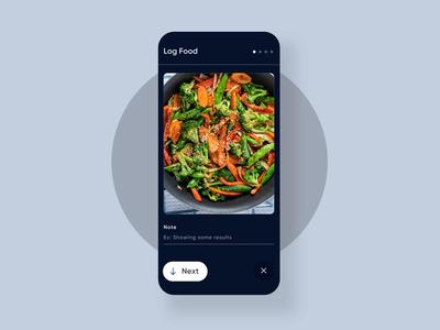 Log Food - Wellness App health app healthcare product log food health wellness uxui app layout visual concept design ui