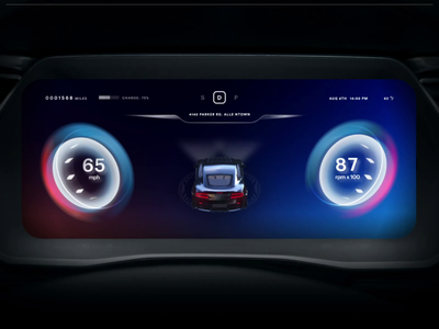 Car HMI UI hmi automobile motion automative car product 3d visual concept design ui