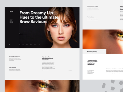 Beauty Insider - Layout Inspiration lipstick mask facial routine skincare exploration branding brand cosmetic makeup product uxui layout visual concept design ui