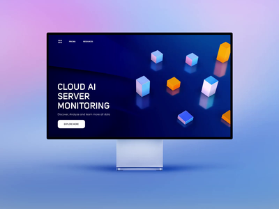 Data Cloud Service - Website Concept cohort analysis animation server data visualization dataviz data data cloud product design app uxui 3d layout visual concept design ui