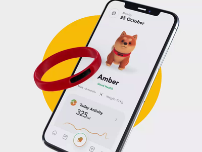 Doggo App - GPS Dog Tracker bluetooth gps pet care activities nutrition dog 3d product uxui tracker app food tracker pet design ui