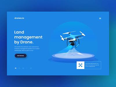 Land Management by Drone - Website Concept landing page landingpage uxui webdesign landingpage drones drone product design concept product uxui layout visual design ui