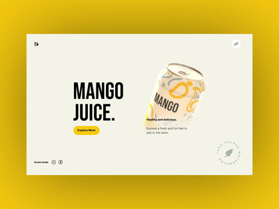 Mango Juice  - Website Concept juice uxui layout visual design 3d animation ui