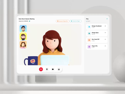 Online Meeting App Concept app design product design design screen share call video call online meeting cloud meeting concepot layout visual product uxui app meeting video motion graphics 3d animation ui