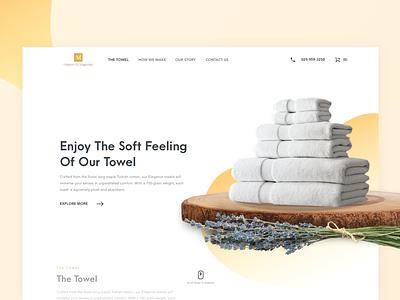 Maison Du Magnolia Towels website design layout ui ux towel soft