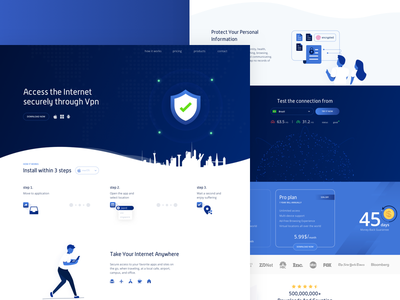 VPN Hotspot shield redesign access internet vpn layout design ui ux