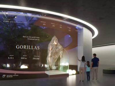 Hologram Interaction - Natural history museum animation layout visual 3d hologram concept design ui