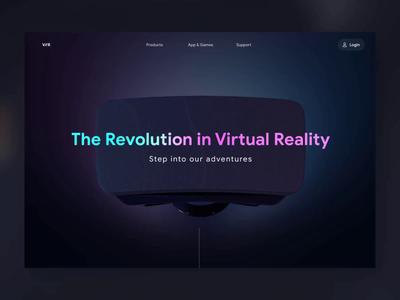 VR Headset - Showcase Site