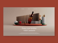 Caminelo Website - Wine 3D Concept