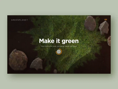 Go green - Marketing Site non-profit organization nonprofit camera product planet plants bird photography natural light photography natural animation effect uxui website layout visual 3d concept design ui