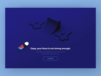 404 Error visual layout 3d concept ui 404page 404