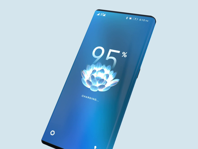 Lock Screen - Charging Mode effect uiux charging concept 3d visual uidesign lockscreen ui design phone ui