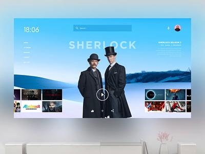 Movies App - Smart TV OS design os aftereffects animation 3d animation design app visual concepts layout ux smarttv 3d concept design art ui
