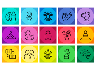 Care Dependency Scale icons digitally handcrafted icon family icons series iconfont