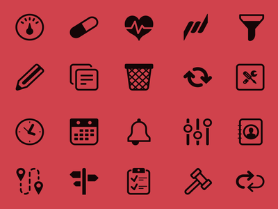 Icon serie for healthcare application (pt.2)
