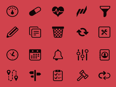 Icon serie for healthcare application (pt.2) iconfont iconseries icons iconography