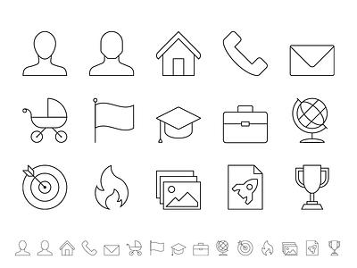 Curriculum Vitae icon series cv icons