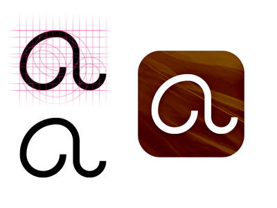 """The letter """"A"""" shape abstract typography"""