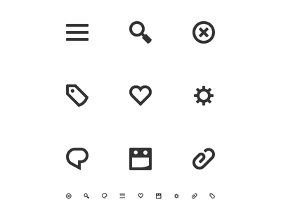 """""""TiNY Bold"""" Iconset - Series 1 small app application design icon iconography"""