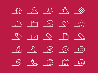 Afloat - 25 Premium icons icon design branding stock iconset ux ui iconography dutch design icon designer icons