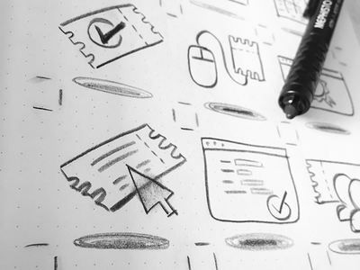 Quick sketch study for Conference themed iconset artwork drawing concept draft icondesign pictograms sketches icon designer icon design iconset wip