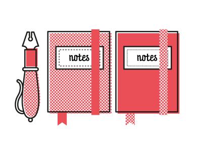 Notes notes pen block-notes notebook illustration alice donadoni