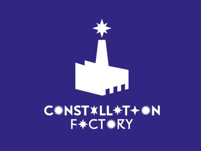Constellation Factory  constellation star factory movie studios logo lettering