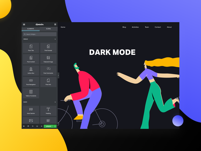 Dark Mode interfacedesign ui design ui future interface dark theme dark mode dark ui elementor