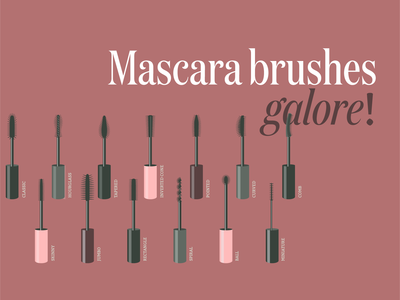 Mascara brushes galore! Illustrations